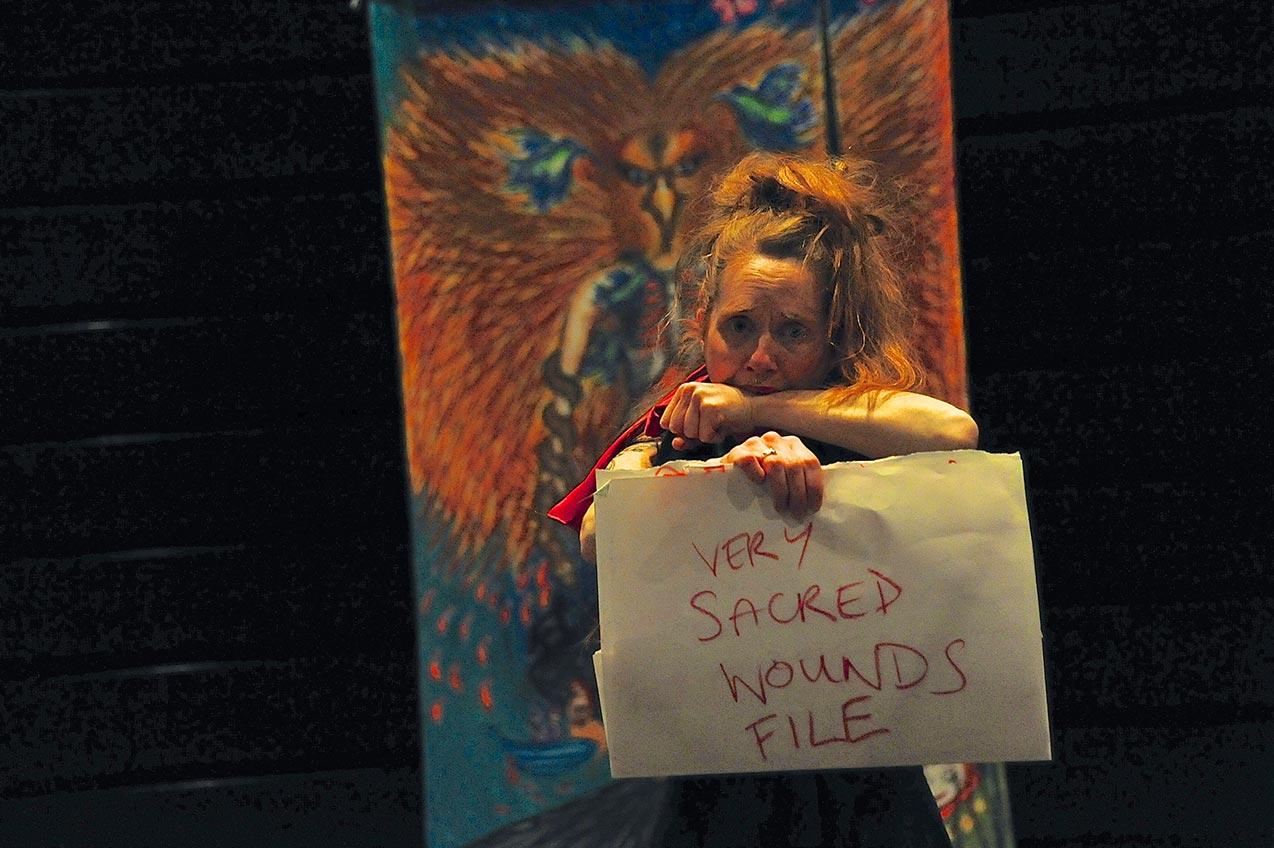 Self Portrait Performance Ritual, Creative-Quarter, Folkstone 2012